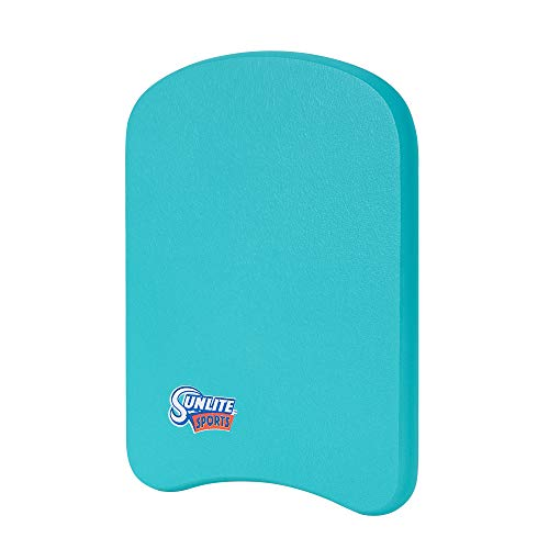 Sunlite Sports Swimming Kickboard, Training Aid Float for Swimming and Pool Exercise, Boogie Board Workout Equipment, EVA Material Swim Buoy, Multiple Sizes for Adults and Children, Junior Aqua Blue