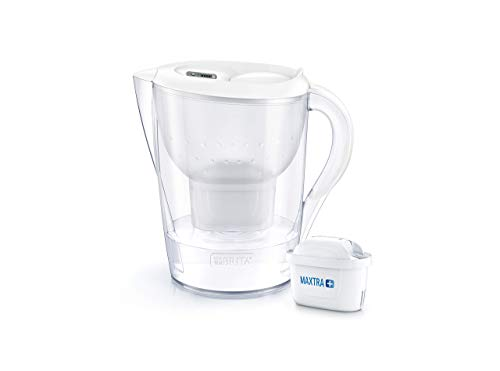 BRITA Marella XL German Engineered Water Filter Jug – Stylish Portable Convenient 3.5 Liters White, Ideal For Fresh and Tasty water