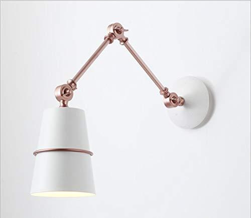 Draaibare wandlamp, vintage metalen wandlamp, E26 peer aan de muur bevestigde wandlamp, leeslamp voor slaap-, woonkamer/boerderij/gang, B