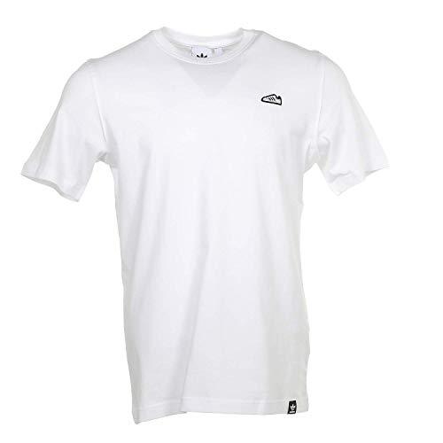 adidas Originals Men's Superstar Emblem T-Shirt, Graphic T-Shirt (Shorts Sleeve), White, 2XL