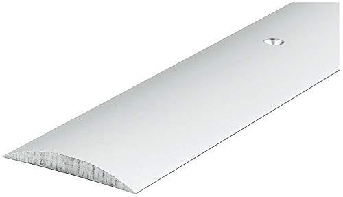Gedotec Übergangsprofil silber Türschwelle Aluminium Halbrundschwelle rund für Innentüren 090 | Länge: 1215 mm | Alu eloxiert | MADE IN GERMANY | 1 Stück mit Befestigungsmaterial