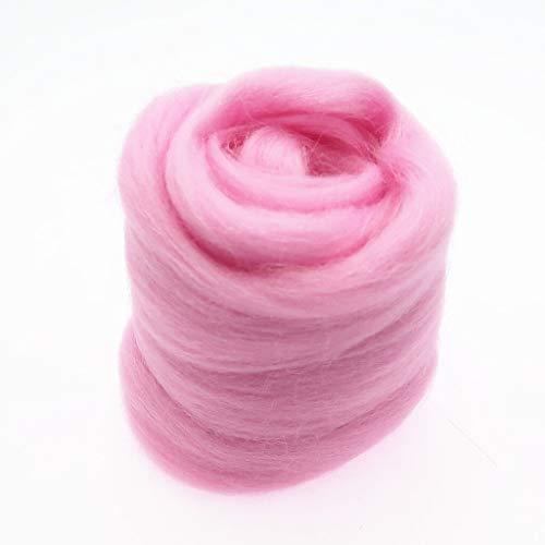 Qitao Wollfilz Farben 5g / 10g / 20g / 50g / 100g Filzwolle-Filz Stoff Filz Craft Spielzeug Filzwolle Handgemachte Filzen Craft (Color : 93, Size : 100g)