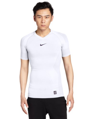 Nike Herren kurzärmliges Shirt Pro Combat Hypercool Vapor Seamless Top, White, M