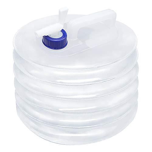 ZB ZealBoom - Depósito de agua plegable de 5 litros con grifo plegable portátil para camping, senderismo, picnic, pesca, viajes, barbacoas