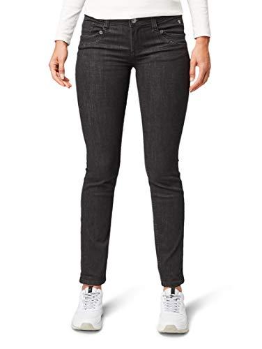 TOM TAILOR Damen Jeanshosen Carrie Straight Jeans Black Denim,28/30,10240,2999