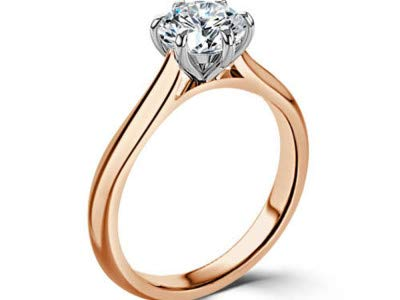 0.40 Carat Round Cut Real Single Solitaire Natural Diamond Wedding Engagement Rings for Women's Solid 14K 18K White…