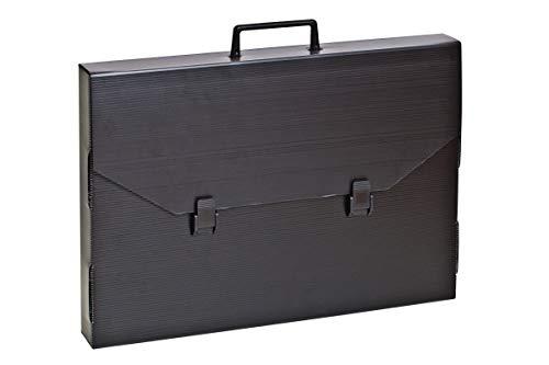 artdee Zeichenkoffer/Transportmappe aus Kunststoff mit Griff (53 x 73 x 4,0 cm)