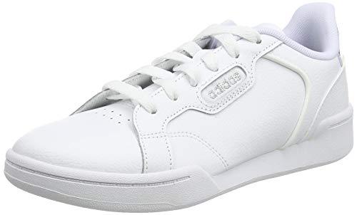 adidas Roguera J, Scarpe da Ginnastica Unisex-Baby, Ftwr White/Ftwr White/Silver Met, 40