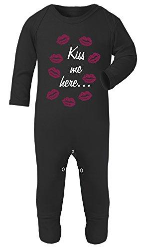 Costume Double Face Kiss Me Here pour bébé 100% Coton hypoallergénique - Noir - S