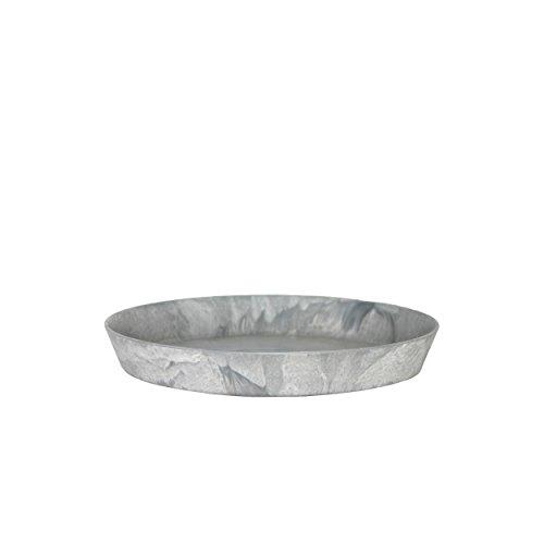 Artstone Blumentopf-Untersetzer Claire Rund D26cm grau