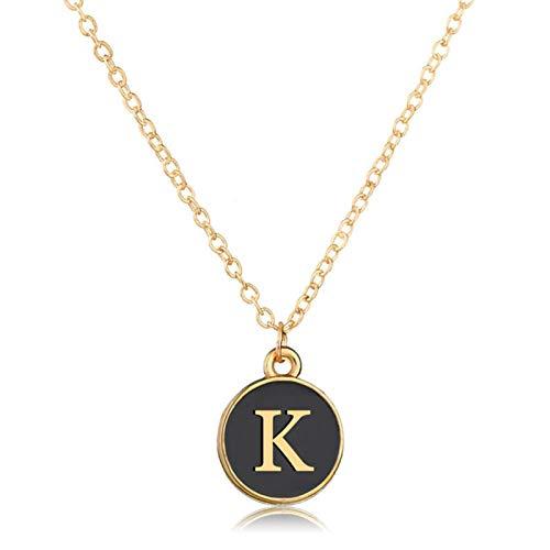 Bohemia Women Fashion Elegant Alphabet Initial Letter Pendant Chain Bracelet Bangle for Party Holiday Jewelry Gift - Golden K