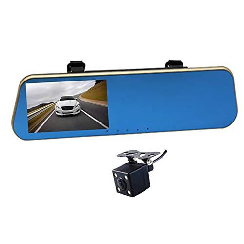 "JSX 4.3\"" HD Auto DVR Rückspiegel Videogerät-Doppel Cam Rückfahrkamera-Fahrenrecorder HDMI-Videorekorder"