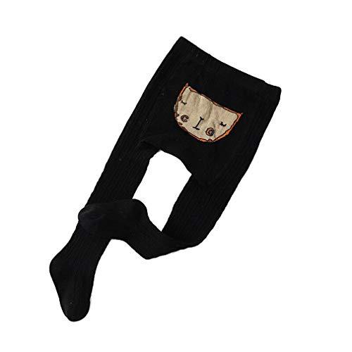 Panty's kinderen meisjes gebreide panty thermische leggings baby thermische winter panty ondoorzichtig 18-20/6-12M zwart
