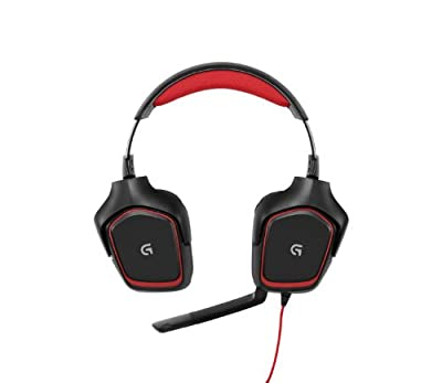 Logitech G230 Gaming Headset with High Quality Sound and Lightweight Design - Black/Red