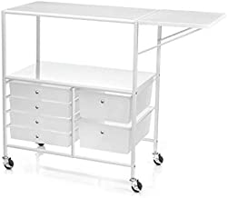 Essex Drawers & Rolling Storage Cart with Tray by Recollections, White