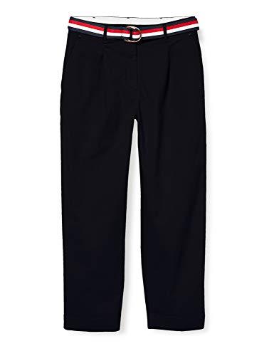 Tommy Hilfiger Damen Th Essential Pleated Chino Hose, Blau (Blue DW5), One Size (Herstellergröße: 42)