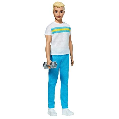 Barbie Ken 60 Aniversario Muñeco rubio con moda deportiva y accesorio de...