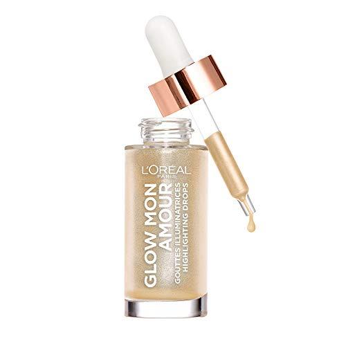 L'Oréal Paris Flüssiger Highlighter für einen frischen Teint, Glow mon Amour Highlighting Drops, 01 Sparkling Love, 1 x 15 ml