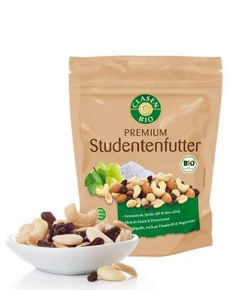 CLASEN BIO Premium Studentenfutter - 125g, von Natur aus vegan und glutenfrei, kontrolliert biologischer Anbau