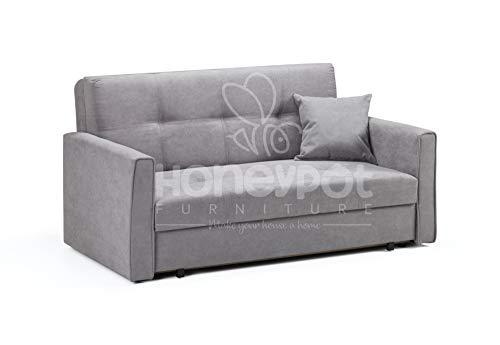 Honeypot - Sofa - Viva - Storage Sofa bed - 2 Seater - Grey Fabric