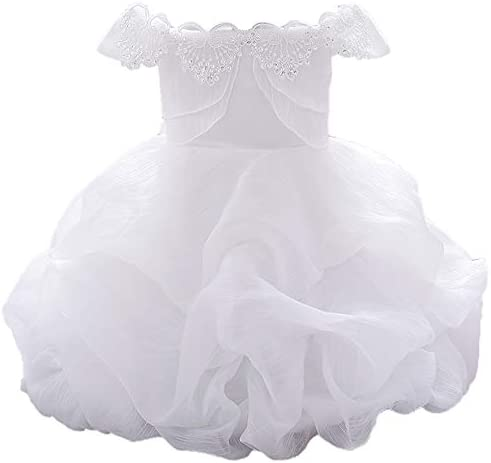AIMJCHLD Formal Prom Pageant Wedding Girls Dresses A line Knee Length Tutu Ruffle Dress Princess product image