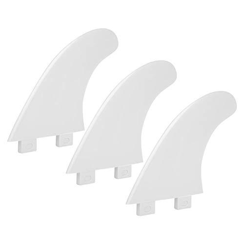 DAUERHAFT Aleta de Tabla de Surf Flexible, 3 Piezas/Juego, para Kayak, para Equipo de acompañamiento(White)