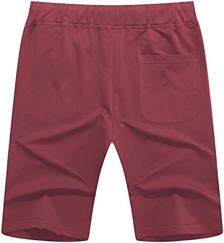 Janmid Men's Casual Shorts Elastic Jogger Gym Active Pocket Shorts
