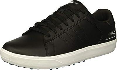 Skechers Go Golf Men's Drive 4 Golf Shoe, Black/Blue, 10.5 W US