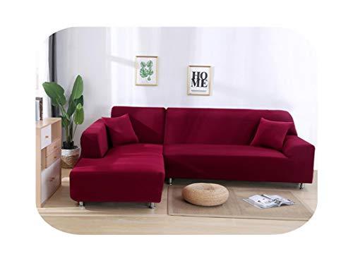 Funda de sofá para sofá, 1 funda elástica para sofá, color sólido, spandex, 2 unidades