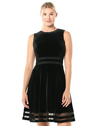 Calvin Klein Women's Sleeveless Round Neck Fit and Flare Dress