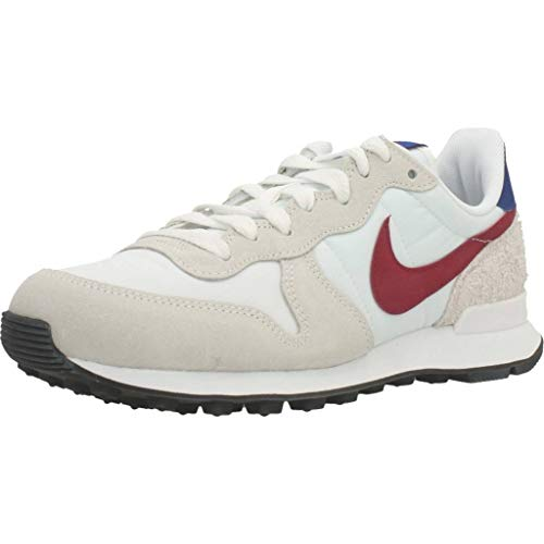 Nike Internationalist, Running Shoe Mujer, Blanco Cumbre/Rojo Noble/Hiperazul/Negro, 37.5 EU