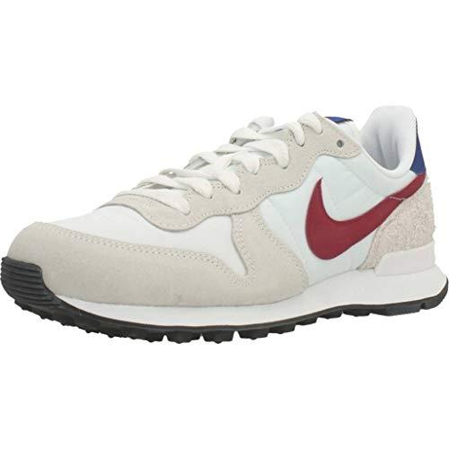 Nike Internationalist, Scarpe da Corsa Donna, Bianco Cumbre/Rojo Noble/Hiperazul/Nero, 37.5 EU