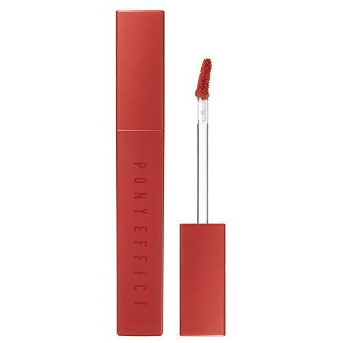 PONY EFFECT Powder Touch Lip Color 1.3oz | 006 Love It | 8 Colors Lip Stain, Long-lasting, High Pigmentation, Silky Texture | Korean Beauty, K-beauty, makeup, cosmetics, Korean velvet lipstick