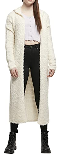 Urban Classics Ladies Hooded Feather Cardigan Sudadera con Capucha, Arena Blanca, XS para Mujer