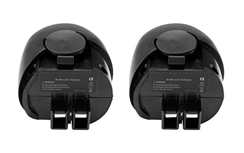 2x Hochleistungs Ni-MH Akku, 4,8V / 2100mAh für Metabo Powergrip 2 II Powermaxx Powergrip Flashlight Power Grip 2 II Powergrip2 6.00063.50 6.02410.50 6.00064.50 6.27000.00 ersetzt 6.27270 6.27271 6.27273 6.31858 60005952 631858000
