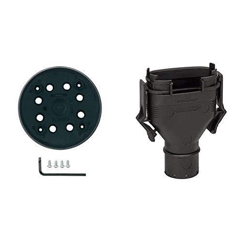 Bosch Professional Schleifteller (für Exzenterschleifer PEX 270 A PEX 270 AE, SchleiftellerØ 125 mm mittelhart) & Professional Adapter für Staubbeutel für Exzenter-, Schwing- und Multischleifer