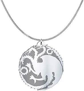 Collana Targaryen stemma casata Game of Thrones, Sterling Silver o placcato oro 18K, gioiello regalo amicizia, migliori amici