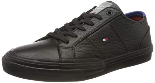 Tommy Hilfiger Herren Harrington 16a Sneaker, Schwarz (Black Bds), 43 EU