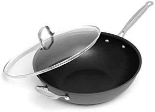 Cuisinart Chef's Classic Nonstick Hard-Anodized 12-1/2-Inch Stir Fry with Helper Handle and Cover