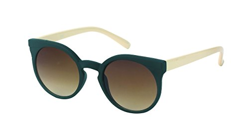 Chic-Net Lunettes de Soleil Dames sur Sun Glasses Vintage Cat Eye Animal Rétro Conception 400UV Blanc