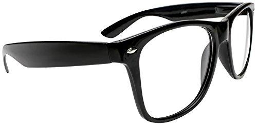 Kangaroo's Black Wayfarer Super Hero Nerd Glasses