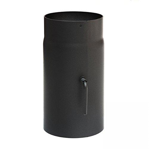 raik SH034-150-sw Rauchrohr/Ofenrohr 150mm - 250mm mit Zugregulierung schwarz