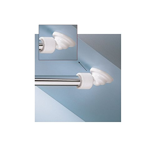 Kleine Wolke Angled Shower Rod Mount for Sloped Walls - Low Cost Solution