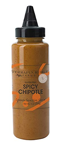 Spicy Chipotle Garnishing Sauce by Terrapin Ridge Farms – One 9 oz Squeeze Bottle
