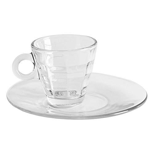 Bormioli Rocco 12 piezas cubo de cristal espresso tazas y de platillos...