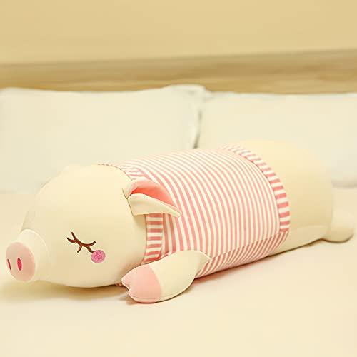 LEIhhdy 65-110cm Grande y Lindo Cerdo muñeca de Peluche de Juguete Cama Almohada para Dormir muñeca 95cm Rosa