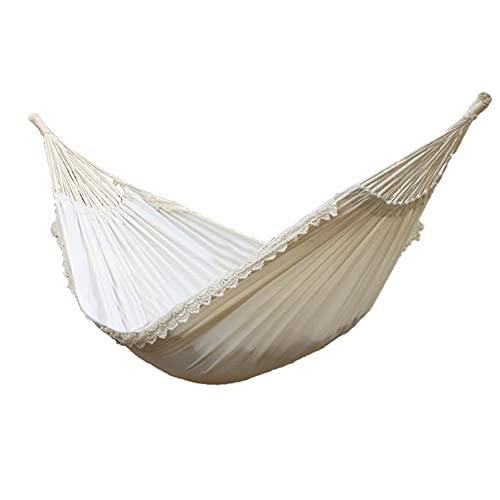 KRISVA Hamaca de encaje para acampar al aire libre, hamaca de encaje, portátil, para colgar en la cama, columpio, silla de columpio individual al aire libre, hamaca Garde