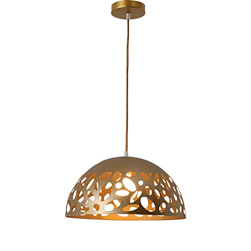 Lustres en fer simples, post-moderne LED or éclairage creux lampe de plafond décoratif Mini mode salon bar magasin de vêtements table à manger allée pendentif lumière (Design : C)