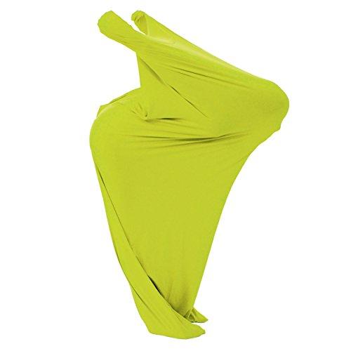 FLIXI Tanzsack – Größe XL – ab 12 Jahre – mit Bildungsheft – luftdurchlässiger Stoff – Hautverträglich - Schwarzlichtanzug - Neon