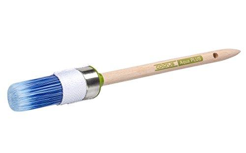Colorus High Premium Ringpinsel Gr. 6 (Ø 30mm)   Rundpinsel Aqua für wasserbasierte Lacke und Farben   Lackierpinsel aus spezieller Kunstborsten Mischung   Lackpinsel Malerpinsel